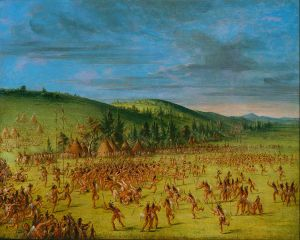 Ball play of the Choctaw (George Catlin)