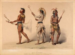 Ball players (George Catlin)