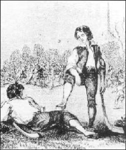 Early image of Irish hurley